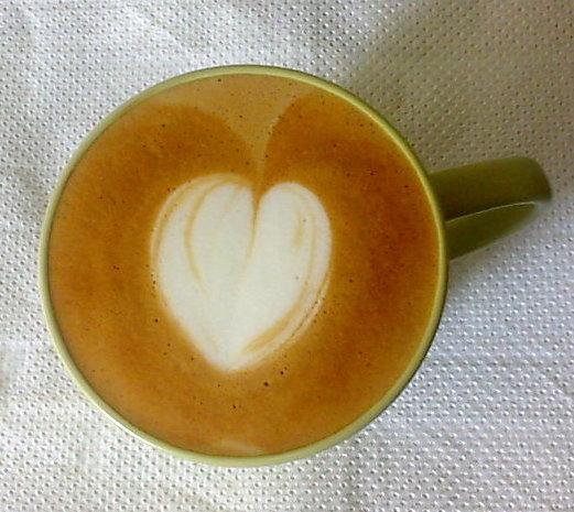 A creamy heart